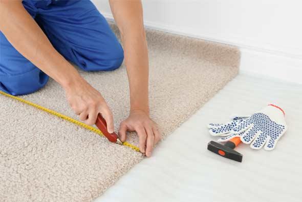 Match up the carpet seams