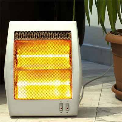 Keep heaters away from furniture, bedding, and other flammable things
