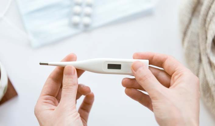 Check Fever with Safety First Thermometer