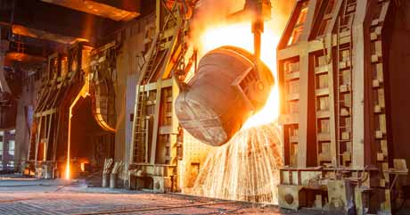 Hot Metal is Melted in Foundries