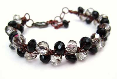 How to make a crystal bracelet