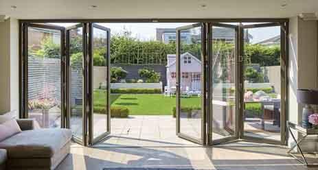glass door open