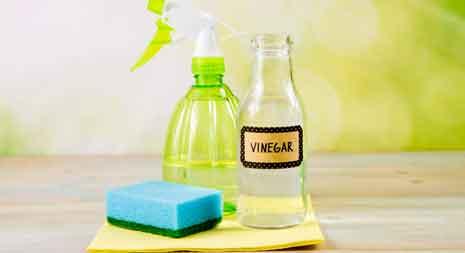 using the vinegar